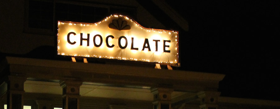 outdoor chocolate sign